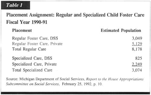 "Images from ""II. Features of Michigan Child Foster Care"""