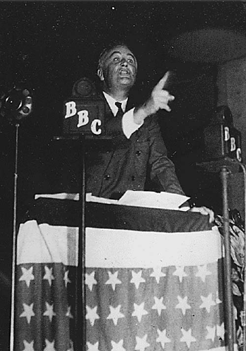 Roosevelt speaking