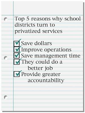 Reasons school districts privatize