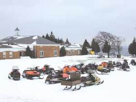 Mackinac Island Snowmobiles