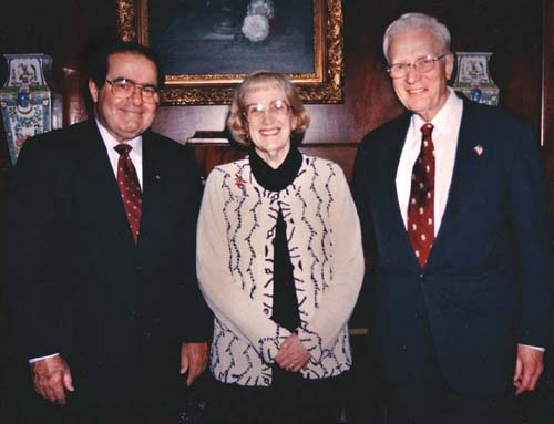 Justice Scalia, Judge Gadola and Mrs. Gadola