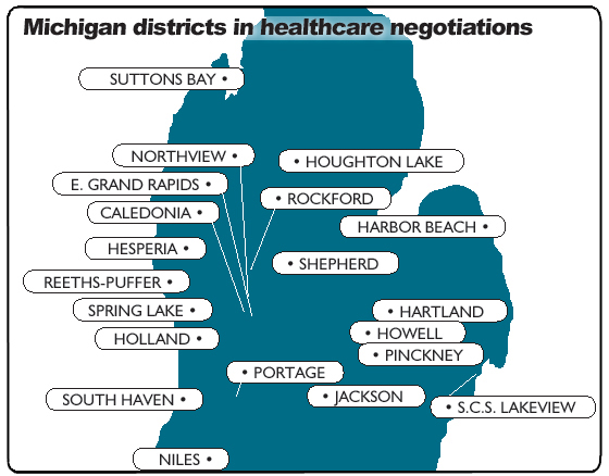 MI districts in healthcare negotiations