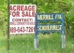 Merrill Community Schools selling land