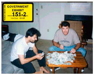 Graphic 13: Mohamad Hammoud and Accomplice With Illicit Smuggling Profits - click to enlarge