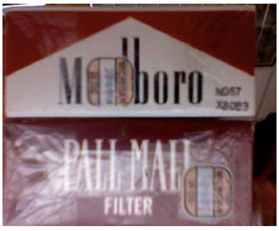 Graphic 15: Michigan Tax Stamps on a Pack of Cigarettes - click to enlarge