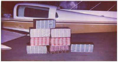 Graphic 26: A Modern Plane Smuggling Cigarettes - click to enlarge