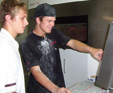 Students at computer