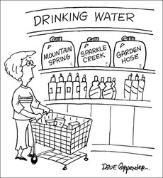 shopping for water cartoon