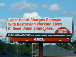Labor billboard