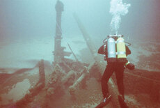 Underwater photo of Farnan wreckage