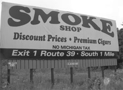 Smoke Shop Billboard
