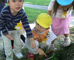 Japanese preschool  - nature walk