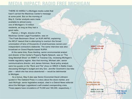 Media Impact: Radio Free Michigan - click to enlarge
