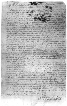 Washington's thanksgiving proclamation