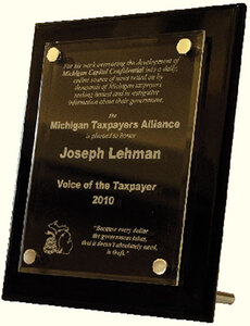 "Michigan Taxpayer's Alliance ""Voice of the Taxpayer"" award"