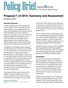 Proposal 1 of 2014: Summary and Assessment