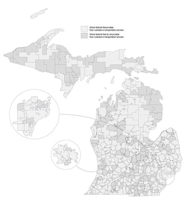 Map of Survey Findings by School District - click to enlarge