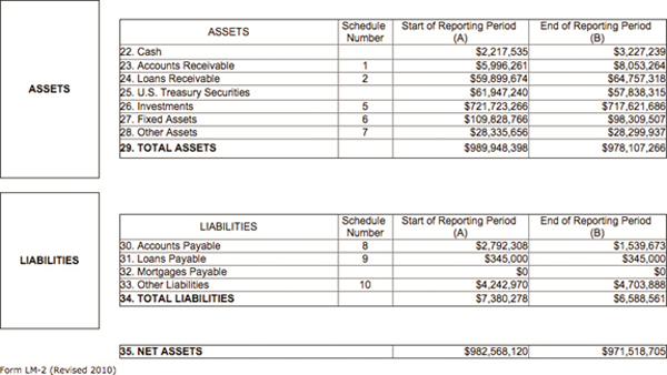 Graphic 2 Statement A Assets And Liabilities From UAW LM