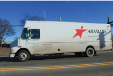 Aramark delivery truck