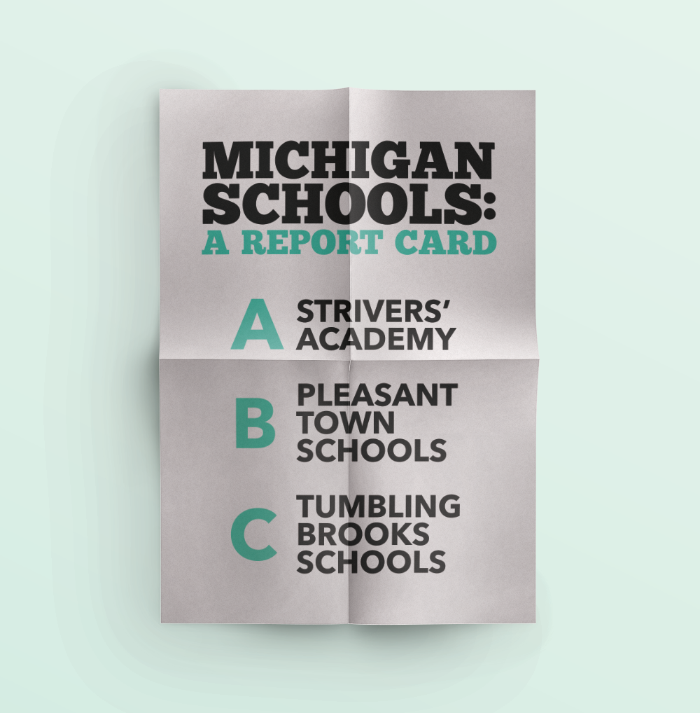 "Images from ""Michigan Parents Deserve a Statewide Report Card for Schools"""