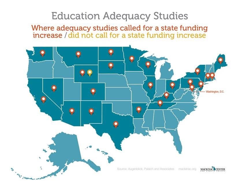 Map of U.S. Adequacy Studies