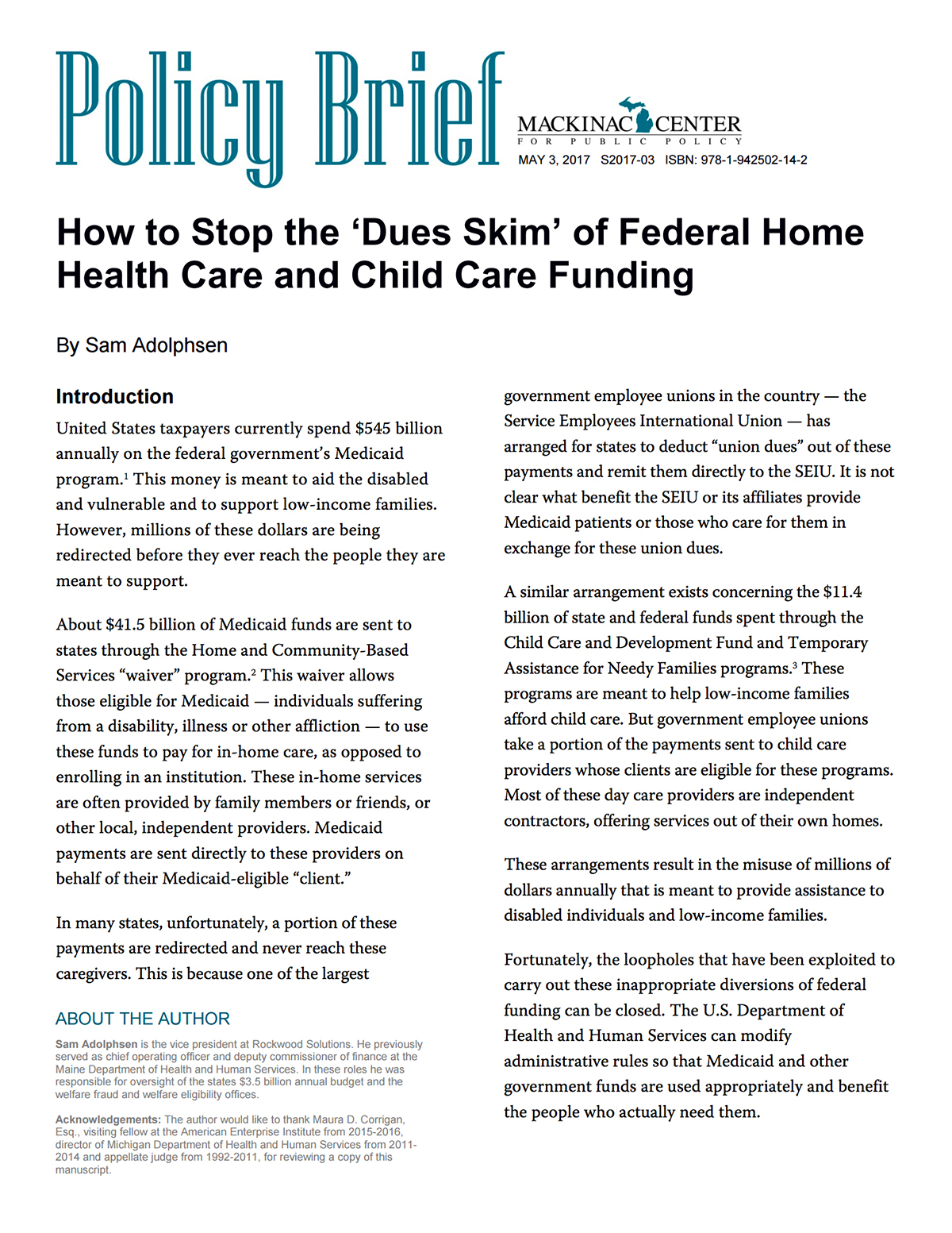 "Images from ""How to Stop the 'Dues Skim' of Federal Home Health Care and Child Care Funding"""