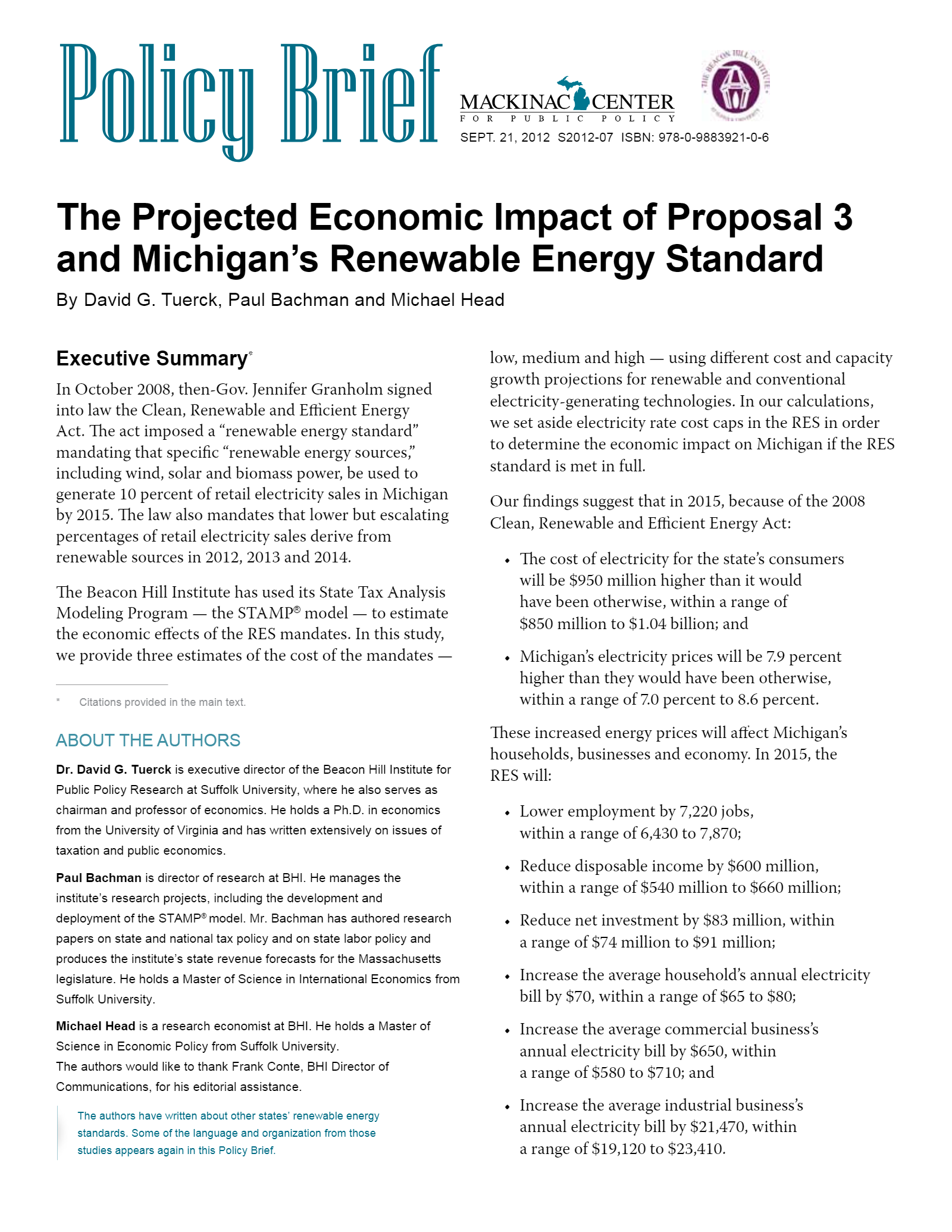 The Projected Economic Impact Of Proposal 3 And Michigan S