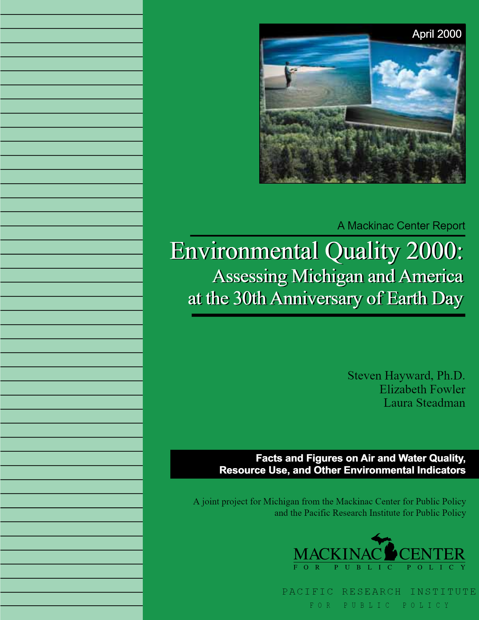 "Images from ""Environmental Quality 2000: Michigan and America at the 30th Anniversary of Earth Day"""