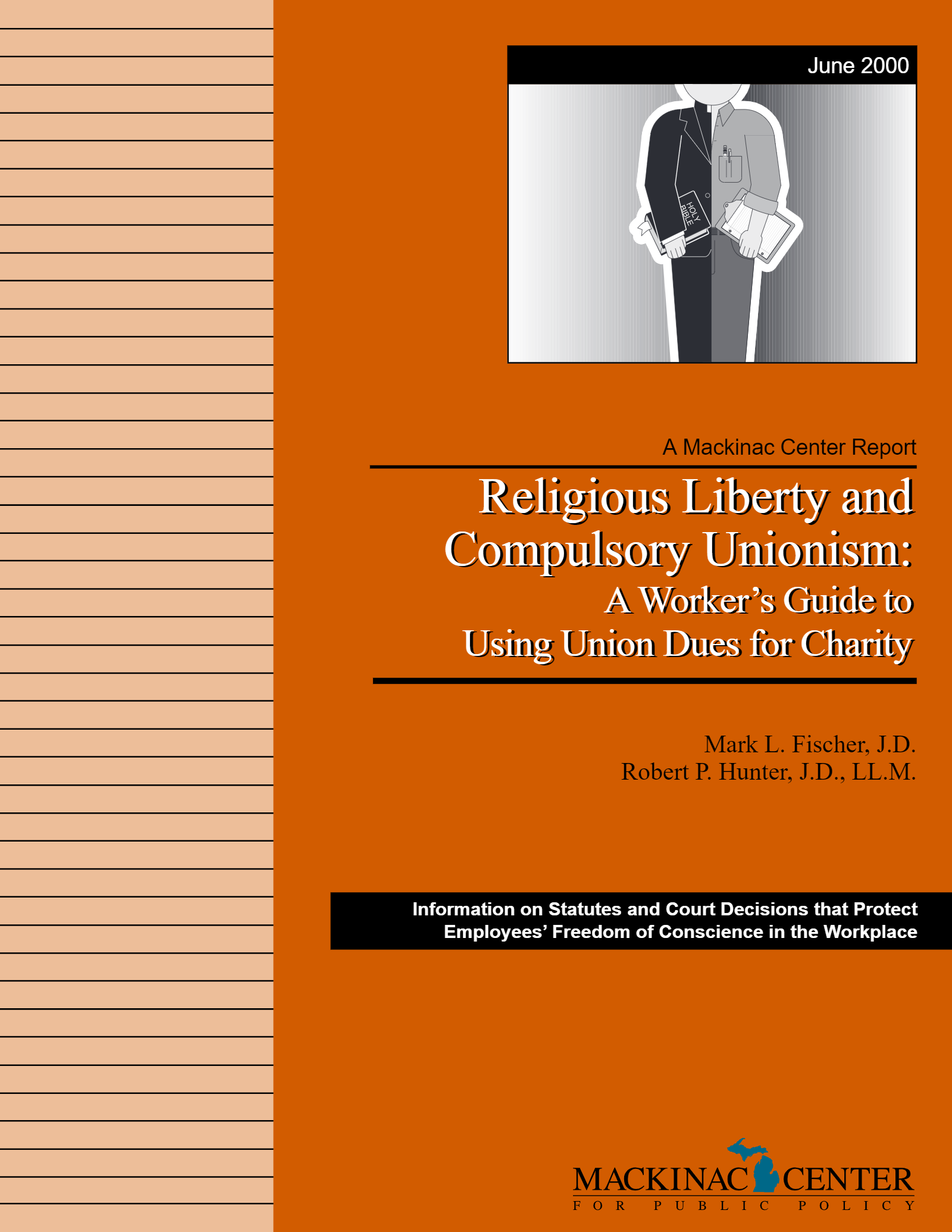 "Images from ""Religious Liberty and Compulsory Unionism: A Worker's Guide to Using Union Dues for Charity"""