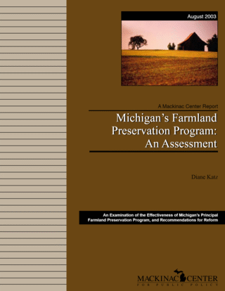 Michigan's Farmland Preservation Program: An Assessment