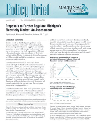 Proposals to Further Regulate Michigan's