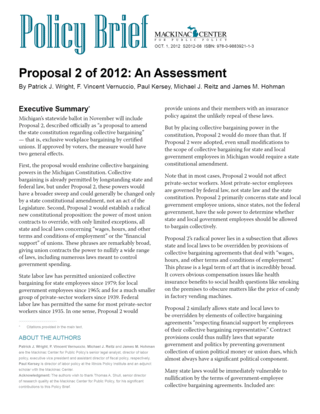 Proposal 2 of 2012: An Assessment