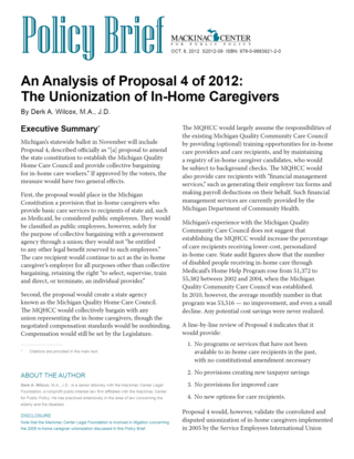 An Analysis of Proposal 4 of 2012: 