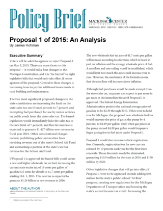 Proposal 1 of 2015: An Analysis