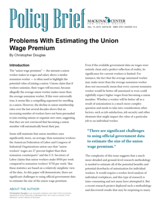 Problems With Estimating the Union Wage Premium