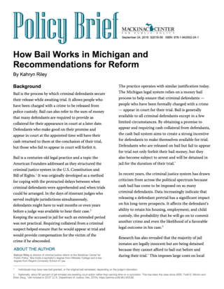 How Bail Works – How Bail Works in Michigan and