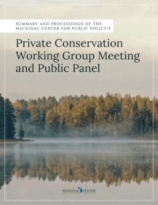 Private Conservation Working Group Meeting and Public Panel