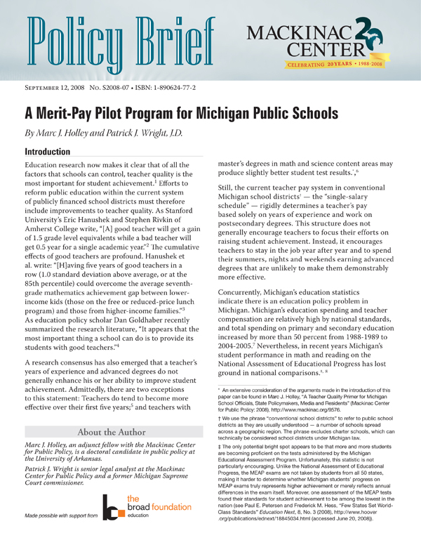 "Images from ""A Merit-Pay Pilot Program for Michigan Public Schools"""