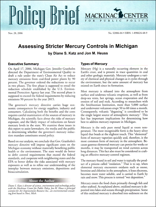 "Images from ""Assessing Stricter Mercury Controls in Michigan"""
