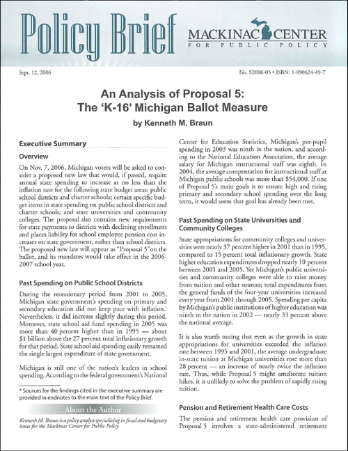 "Images from ""An Analysis of Proposal 5: The 'K-16' Michigan Ballot Measure"""