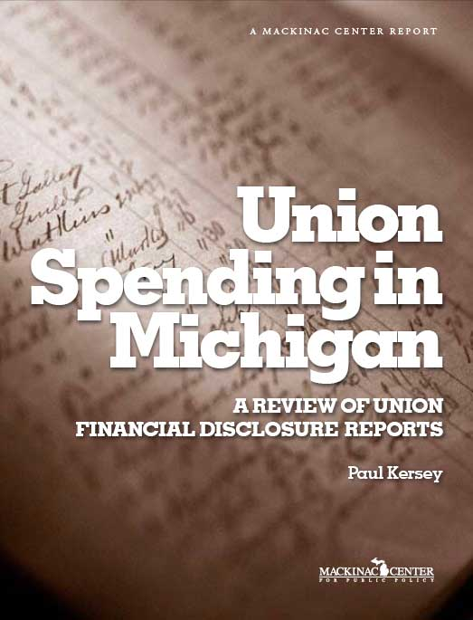 "Images from ""Union Spending in Michigan: A Review of Union Financial Disclosure Reports"""