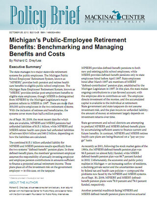 Michigan's Public-Employee Retirement Benefits: Benchmarking and Managing Benefits and Costs