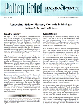 Assessing Stricter Mercury Controls in Michigan