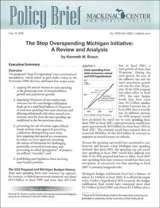 The Stop Overspending Michigan Initiative: