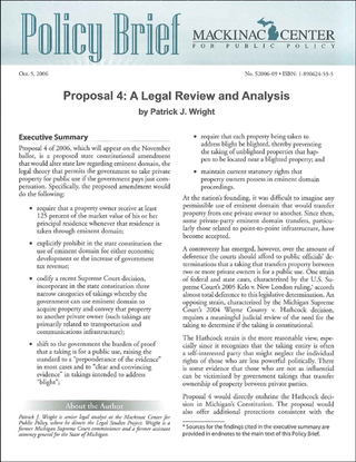 Proposal 4: A Legal Review and Analysis
